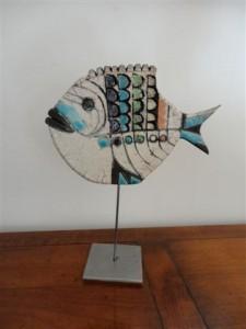 Exposition des oeuvres en céramique raku réalisées par Annie Mattei-Delubac et André Amoros, le 29 juin 2013 dans Expositions dsc00855-225x300