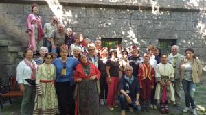 20160606 les participants au voyage avec un groupe folklorique en arménie