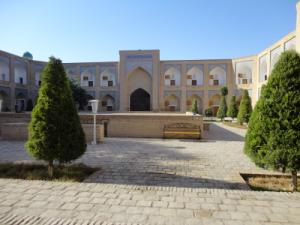 notre hôtel à Khiva, une ancienne medersa