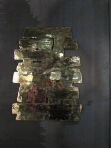 une plaque de gravure de Soulages
