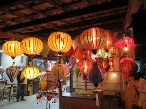 les lanternes multicolores