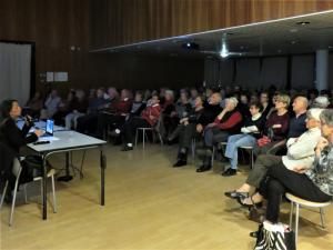 Barbara Lepecheux et le public